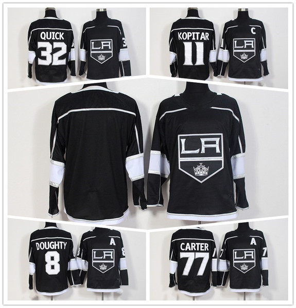 Mens Los Angeles Kings Hockey Jerseys 11 Anze Kopitar 32 Jonathan Quick 8  Drew Doughty 77 7e0123510