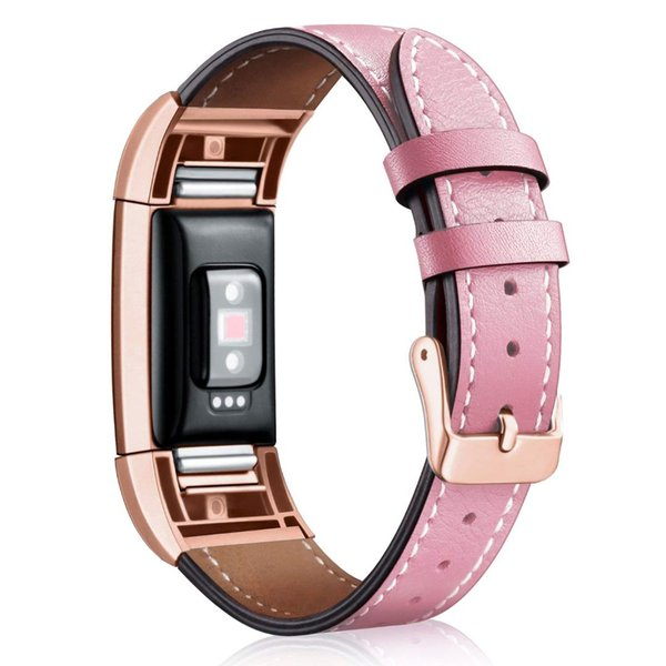 Soft and comfortable smart heart rate watch leather strap wrist strap single circle leather for fitbit charge2