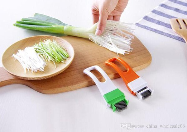 1 Pc Wholesale Creative Green Onion Cutter Knife Graters Vegetable Chili Shredded Cooking Tools Household Kitchen Gadgets
