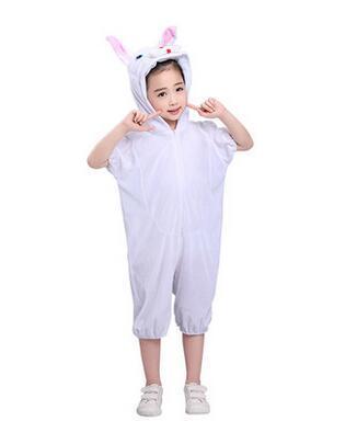 2018 Yeni stil çocuk Cosplay Pembe Beyaz Tavşan Ördek Hayvan Oynatmak giyim Boys ve kızlar Dans Yapışık giysiler