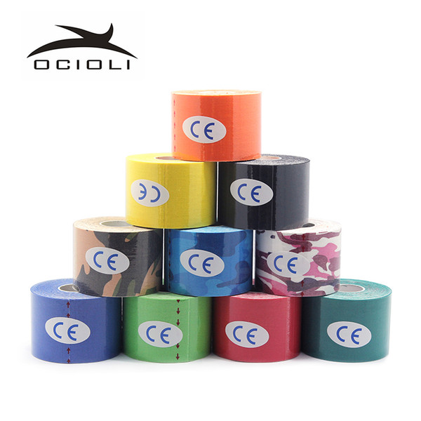 20Rolls Athletic Kinesiology Tape Viscose 5cm5m Sport Tape Strapping Football Basketball Knee Muscle Kinesiology Tapes
