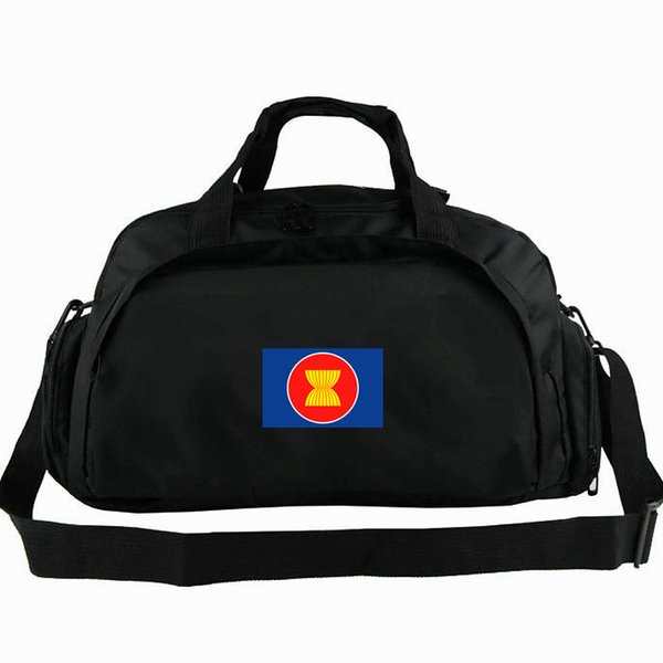 ASEAN duffel bag Southeast Asian Nations flag tote the 2 way use backpack Banner luggage Trip shoulder duffle Sport sling pack