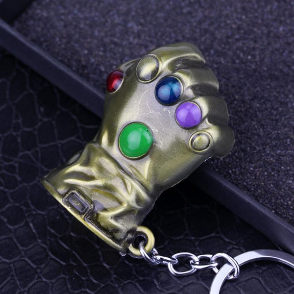 MS JEWELS Movie Game Gifts Jewelry Thanos Infinity Gauntlet Keychain Metal Key Rings Chaveiro Key Chain Jewelry 2 Colors