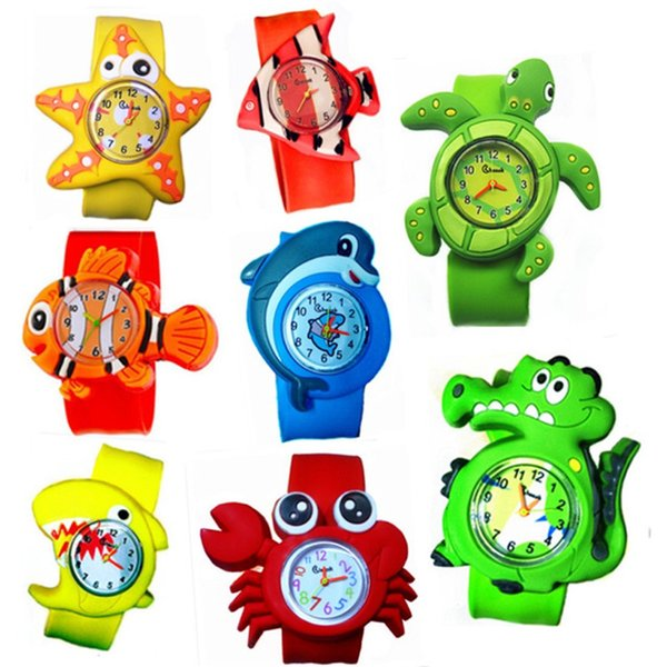 best selling Children Slap Watch Cute Animal Cartoon Quartz Analog Wristwatches Candy Color Silicone Sport Watch Kids Student Gift Watches