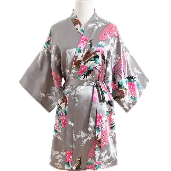 Large Size XXXL Female Robe Kimono Accappatoio Abito con cintura stampa Fiore Sleepwear Sexy Camicia da notte Nightwear Lady Regalo di nozze