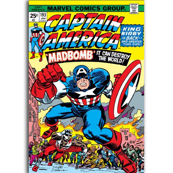 G2533  Marvel Comic Vintage Superhero A4 Art Poster Silk Light Canvas Painting Print Home Decor For Wall