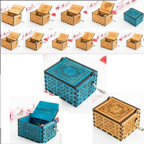 10 design harry potter Music Box Hand Engraved theme song gift for Christmas birthday gift 2 color KKA5755