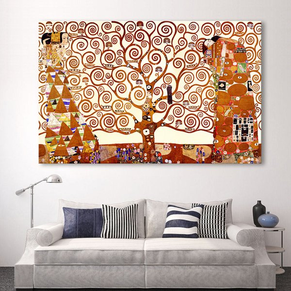 Tree Of Life Wall Art Painting Modern Picture For Living Room Home Decor Printed On Canvas No Frame