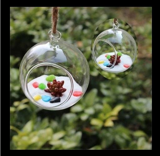 2018 Hot Nice Clear Ball Glass Hanging Vase Bottle Terrarium Container Planter Table Decor