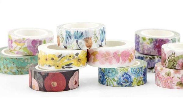 top popular 22 Styles Japanese Kawaii Washi Tape Seasons Flower Plants Garden 1.5cm*7m DIY Adhesive Tape for Scrapbooking 2016 2019