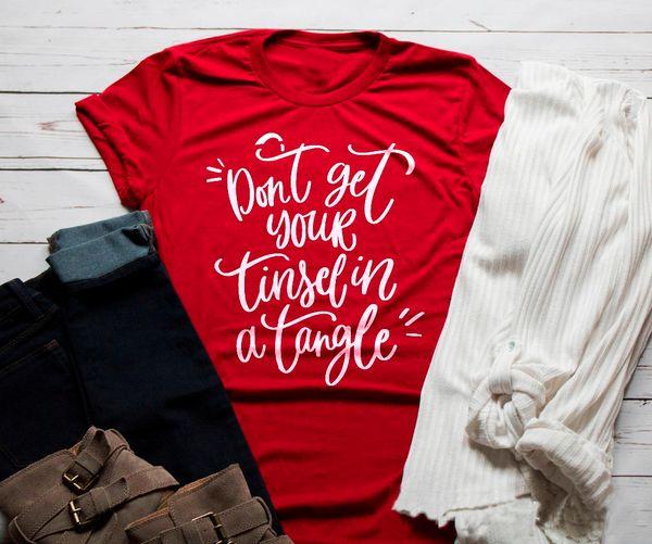 T-shirt di Natale con le magliette e le magliette di Natale