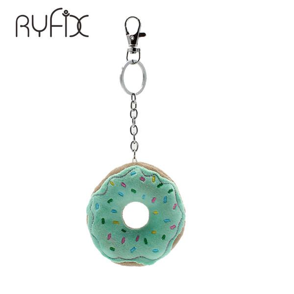 2018 mini sac mignon donut charme donut porte-clés Porte-clés enfants filles cadeau emoji pendentif sac charme NL02