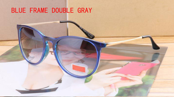cadre bleu double gris