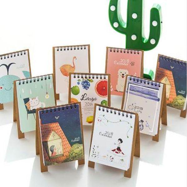 top popular 2018 Newest Kawaii DIY Animals Mini Desktop Paper Calendar Dual Daily Scheduler Table Planner Yearly Agenda Organizer 2020