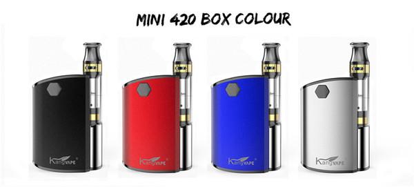 KANGVEPE новое поступление качество Vape коробка мод комплект 650mah переменная напряжение батареи мод для 510 0,5 мл картриджи электронных сигарет