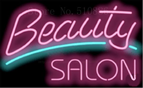 Großhandel 17 * 14 Beauty Salon Designer NEON ZEICHEN ECHTE GLAS BIER BAR  PUB LICHT ZEICHNUNGEN Shop Display Restaurant Shop Werbung Lichter Von ...