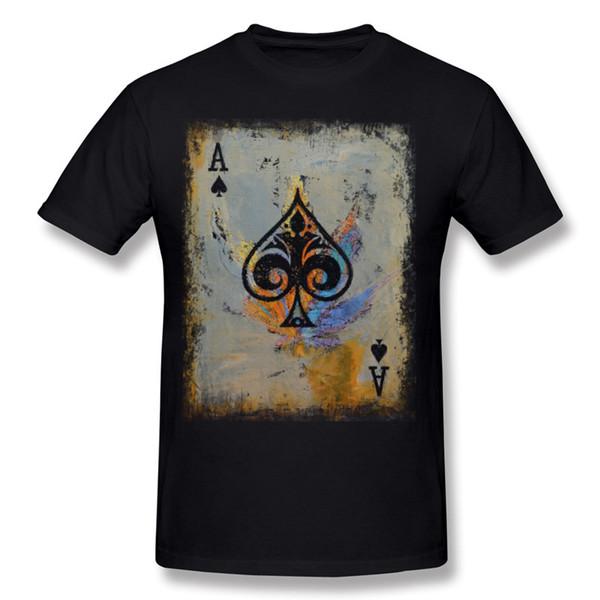 Mix Order Men 100% Cotton ACE T-Shirt Men O-Neck Navy Blue Short Sleeve T-Shirts S-6XL Printing T-Shirt