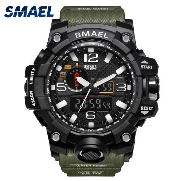 Wholesale-SMAEL Sport Watches for Men Waterproof Digital Watch LED Men's Wristwatch Clock Man 1545 montre homme Big Men Watches