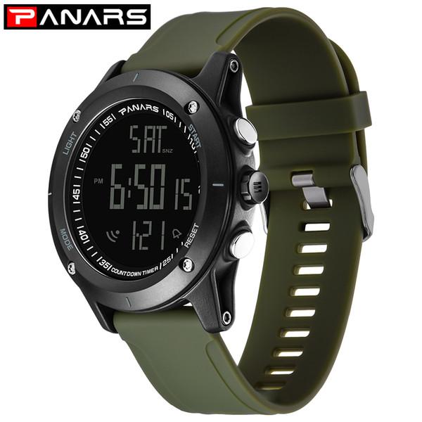 Erkekler Spor Casual LED Saatler erkek Dijital Saat Adam Ordu Askeri PU plastik kayış Bilek İzle Saat Relogio Masculino P8104
