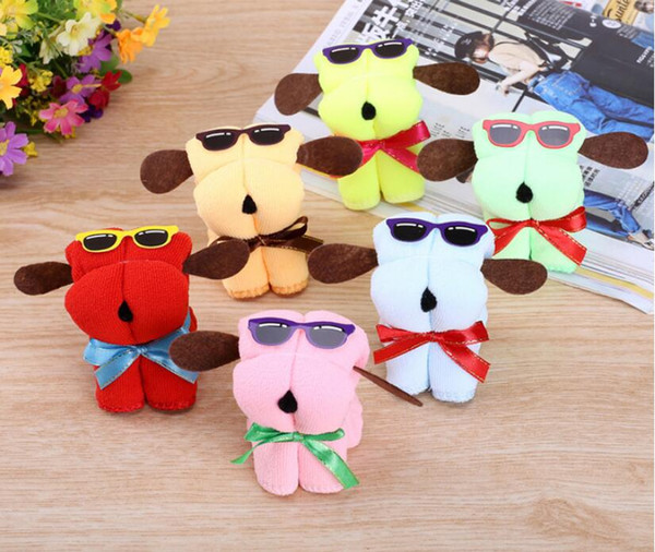top popular Hot Cute Dog Children Toy Shape Cotton Cake Towel Creative Mother's Day Wedding Present Birthday Gifts 2020