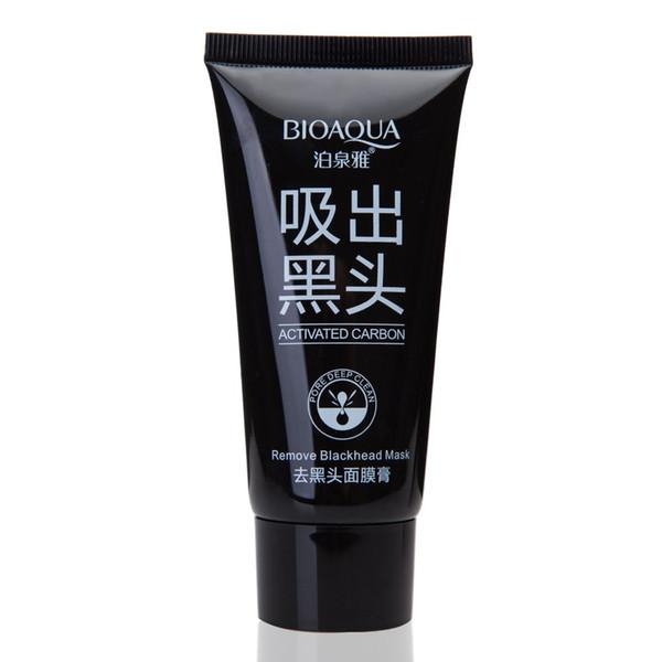300PCS BIOAQUA Face Skin Care Suction Black Mask Nose Blackhead Remover Acne Treatment Mask Peeling Peel off Black Head Mud Facial Mask