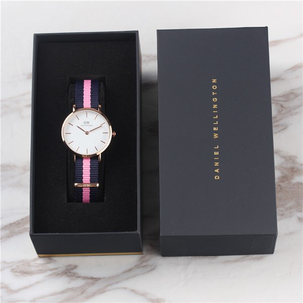 New 32MM Woman Colorful Nylon Quartz Watches Women Luxury Brand Female Clock Relogio Montre Femme Lady Wristwatches With Original Box