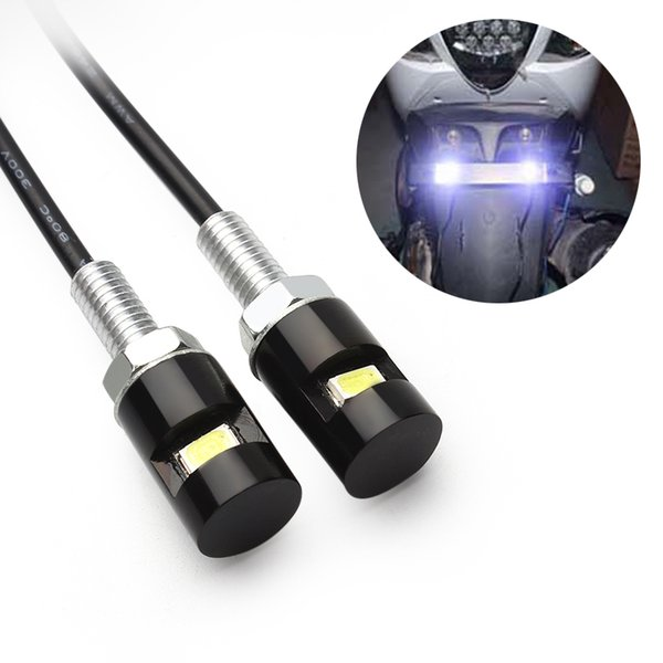 2pcs/lot Tail Number License Plate lamp Accessories Screw Bolt Light White LED Car Auto Motorcycle Universal 12V SMD 5630