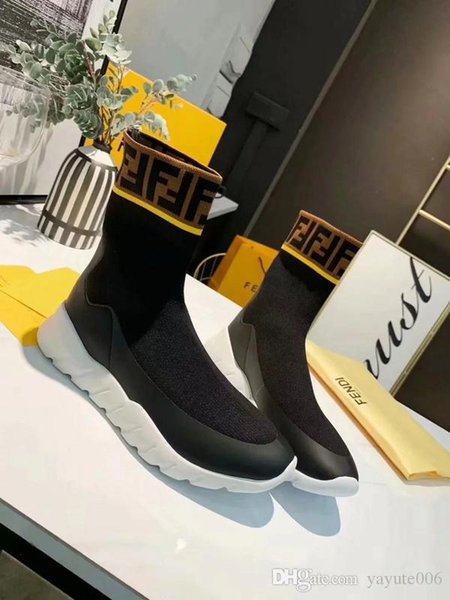Top Sock Shoes Women Man Fashion Socks Boots Casual Sport Trainer Runner Sneaker Original box Luxury Brand Designer