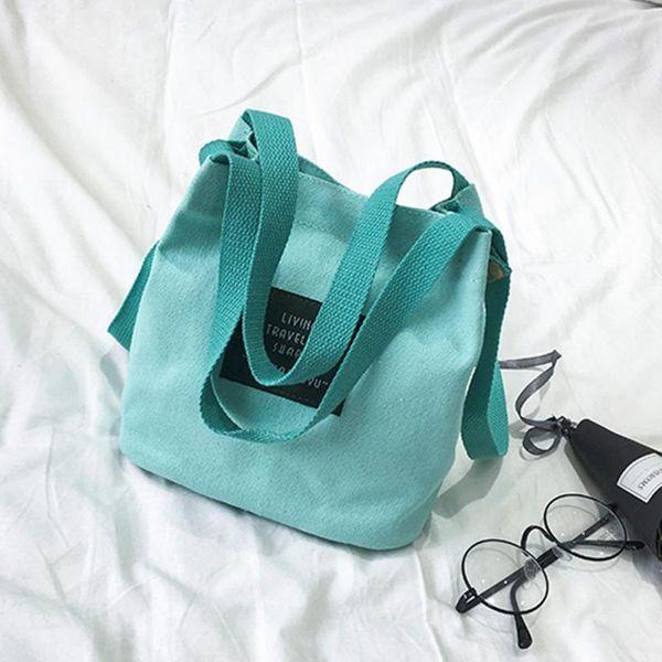 2018 NEW Hot Lady Canvas Handbag Mini Single Shoulder Bag Crossbody Messenger Bags Women Bucket