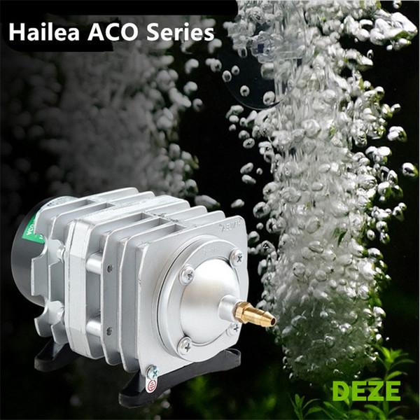 best selling NEW Hailea ACO-208 308 318 25W 85W Aquarium Air Pump Pond Electromagnetic Air Compressor Pump Fish Tank Bubble Air Pump Pond Aerator