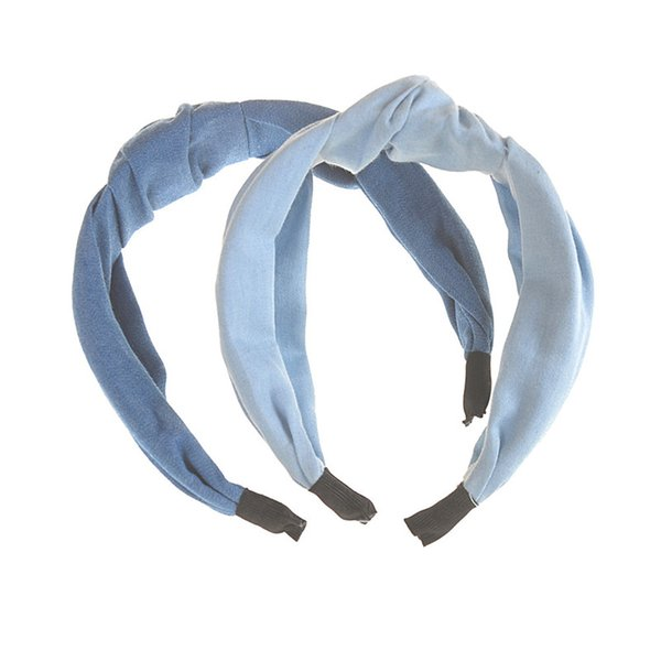 Lovely Fabric Bow Knotted Headbands For Girls Kids Boutique Headwear Hair Accessories Women Hairbands Denim Top Sale