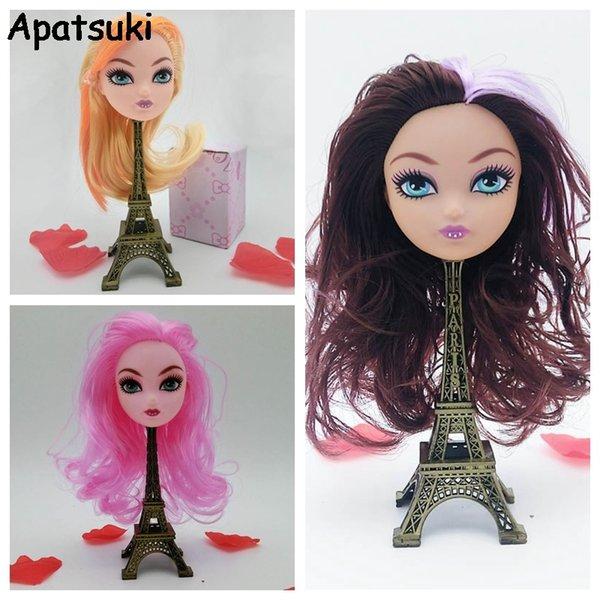 Ugly Demon Monster Doll Head con Hair Wig Doll Accesorios para Monster High Dolls Head para 1/6 BJD House Toys DIY Head