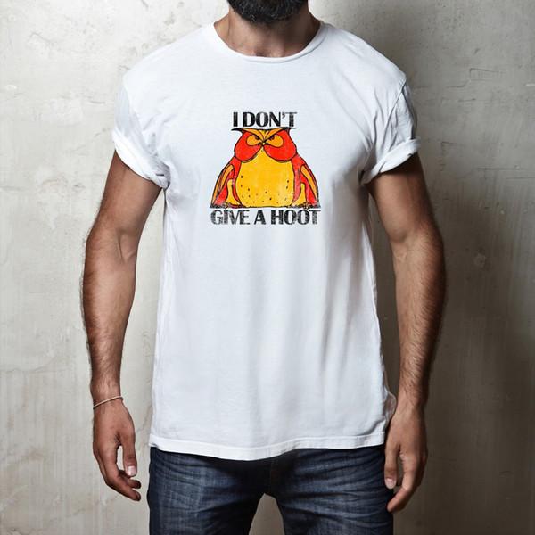 Eu Não Dá Uma Buzina T-shirt Engraçado Da Coruja Comédia Joke Slogan Dizendo Citação T Shirt Novo Camisetas Engraçadas Tops Tee New Unisex Engraçado Tops