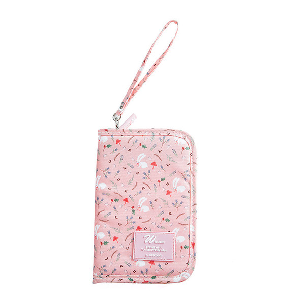 Flower Printing Coin Pouch & Purse for Girls, Small Zipper Card Case Wallet as Change Holder & Money Bag or Cell/Mobile Phone