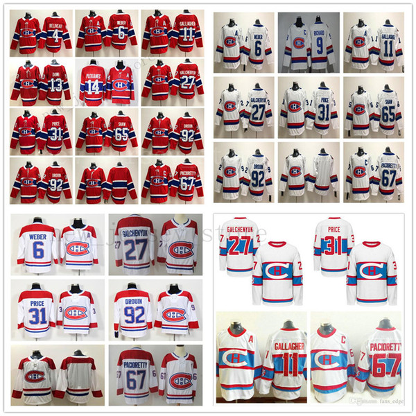 Montreal Canadiens # 13 Max Domi 6 Shea Weber 11 Brendan Gallagher 27 Alex Galchenyuk 31 Carey Preis Andrew Shaw 92 Jonathan Drouin Trikots
