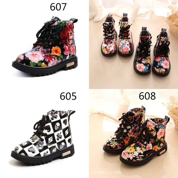 best selling kids shoes girl boys kids shoes wholesales Winter new snow boots childrens shoes childrens patent leaths boots Printed floral Martin boots