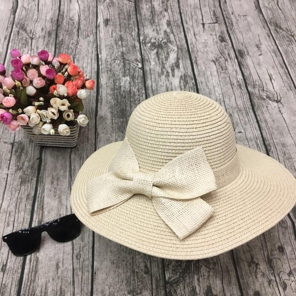 Beach Hats for Women Adult Casual Straw Chapeau Femme Hats-for-women Summer Ladies Cap Surf  Dresses 2018