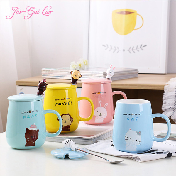 Jia-gui luo MUG Cartoon ceramic cup color variety price beautiful welcome to buy a gift for children's girlfriend