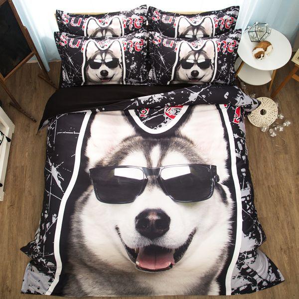 Ücretsiz kargo çocuklar için çocuk karikatür köpek panda kedi ayı tek ikiz tam kraliçe boyutu 3/4 adet yatak seti yok dolgu ev tekstili
