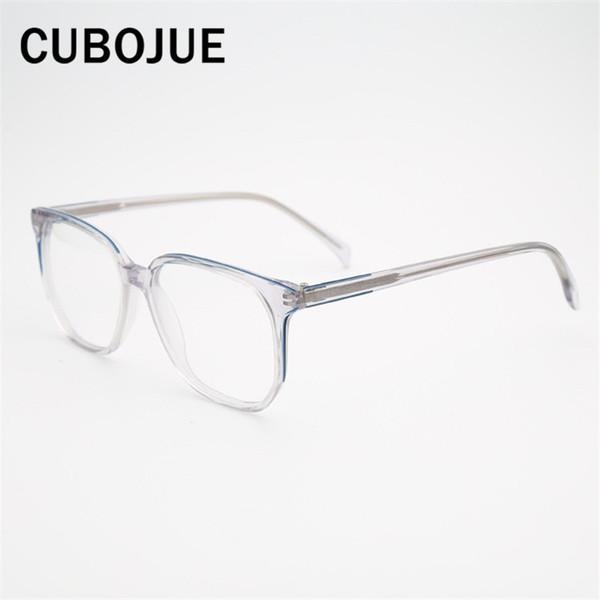 f2e1636c40 Marca Transparente Gafas Hombres Mujeres Acetato Cuadrado Marcos de  anteojos Hombre Mujer Puntos para Dioptrías Receta
