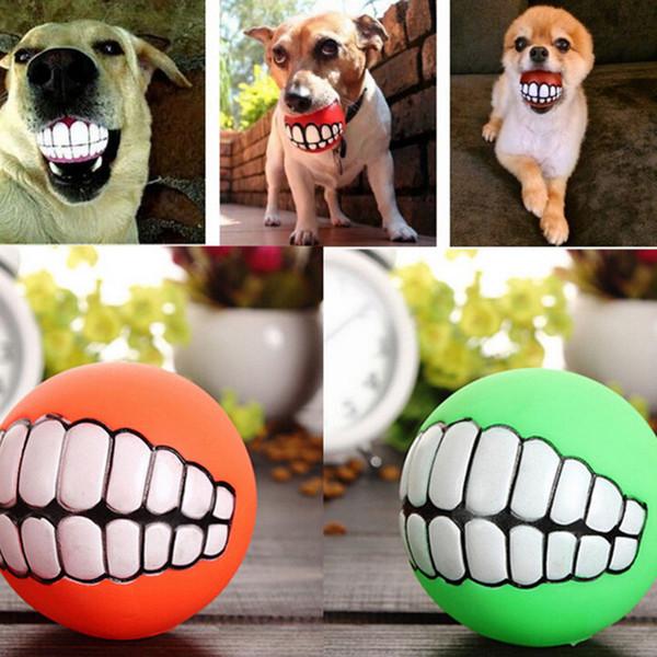 Pet Puppy Dog Funny Ball Denti Silicon Chew Sound Cani Gioca New Funny Pets Dog Puppy Ball Denti Silicon Toy