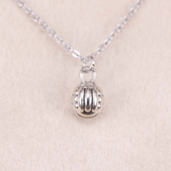 New fashion 3d volleyball 10mm Antique Silver Pendant Girl Short Long Chain Necklaces Jewelry for women