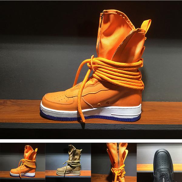 (Mit Box) Spezialfeld SF For Forcing Kräfte Männer Frauen Hohe Stiefel Laufschuhe Turnschuhe Enthüllt Utility Boots Bewaffneten Classicl Shoes 7-11