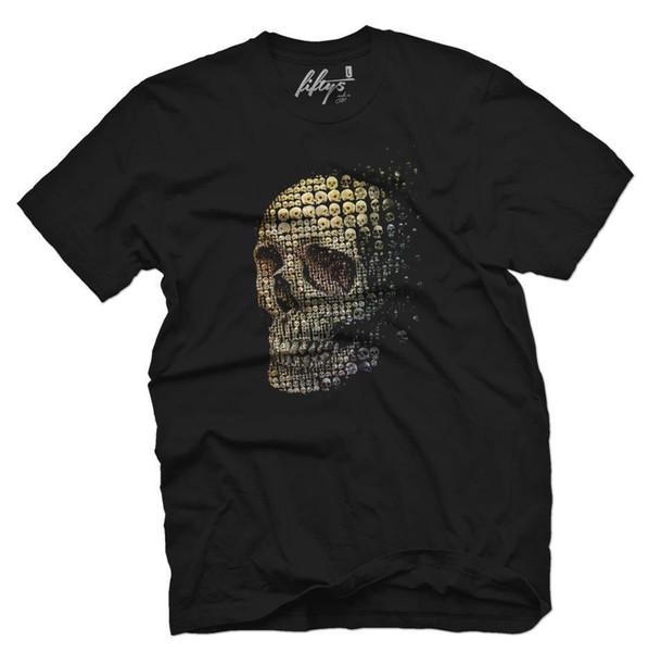 Skulls Men's T Shirt Hommes 2018 Marque de mode T Shirt O-Neck 100% coton T-Shirt Tops Tee personnalisé Environnemental