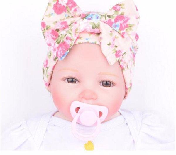 1 Pcs Newborn baby hat Girls Flower Bowknot Beanies Hats Comfortably Hospital Caps 0-3 M