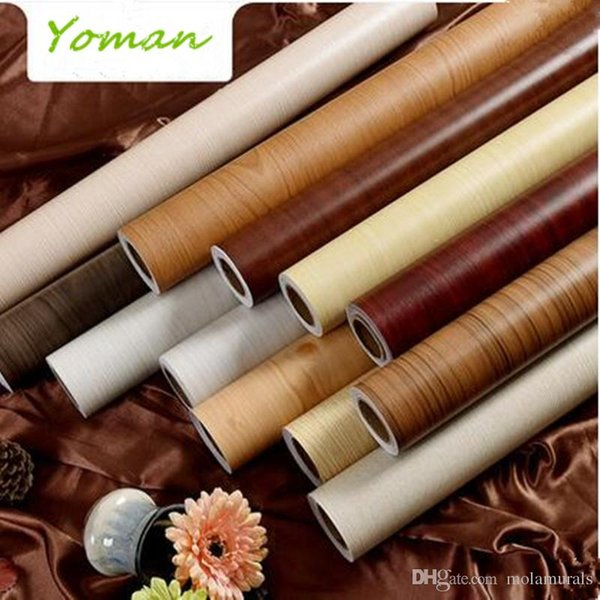 5M pvc wallpapers waterproof vinyl self adhesive wallpaper roll for living room study vintage furniture stickers home decor