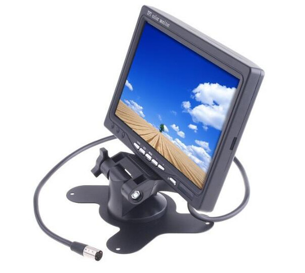 "4Pin 7"" TFT LCD Car Rear View Screen Monitor 2 channel Video Input For Bus Truck Parking Reversing Backup Camera 12V-24V"