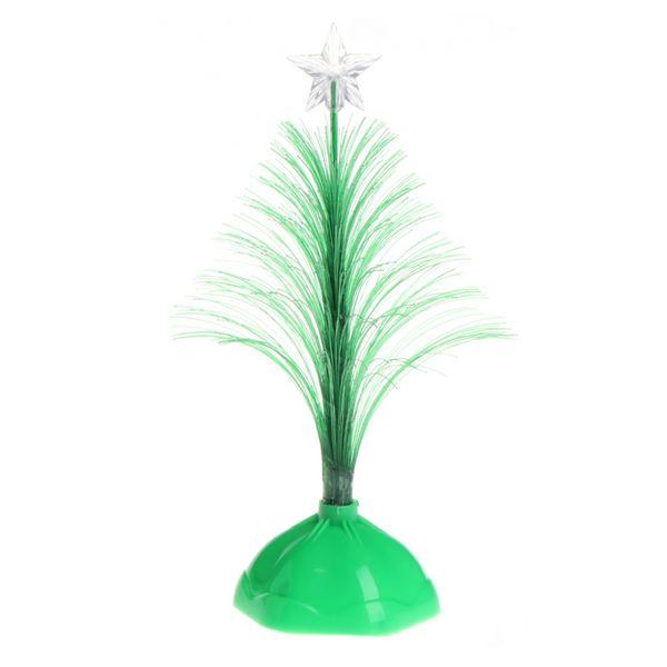 16.5cm Colorful Optical Fiber LED Light Artificial Christmas Tree Party Home Decoration