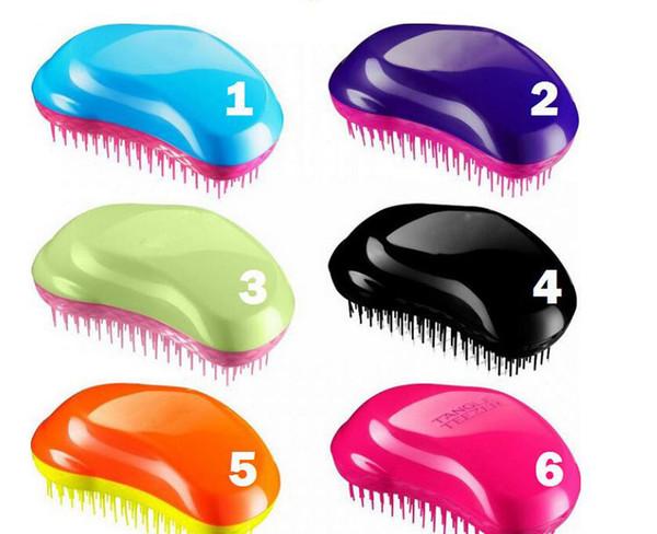 top popular 2018Professional Salon Elite Tangle Detangling Hair Brush Portable Magic Antistatic TT comb Hair Probucts Detangle tangle Hair Brush Styling 2019
