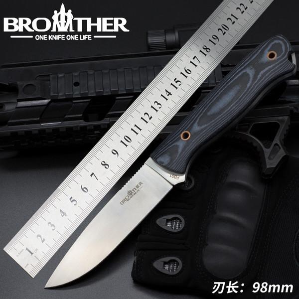 Брат F001 фиксированным лезвием прямой нож тактические ножи Micarta Kydex охота выживания EDC коллекция инструментов Фабрика продвижение на продажу